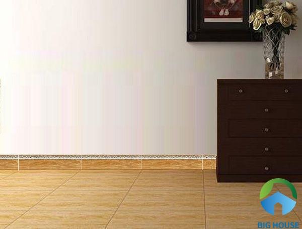Ứng dụng gạch ốp viền chân tường giúp bảo vệ tường hiệu quả