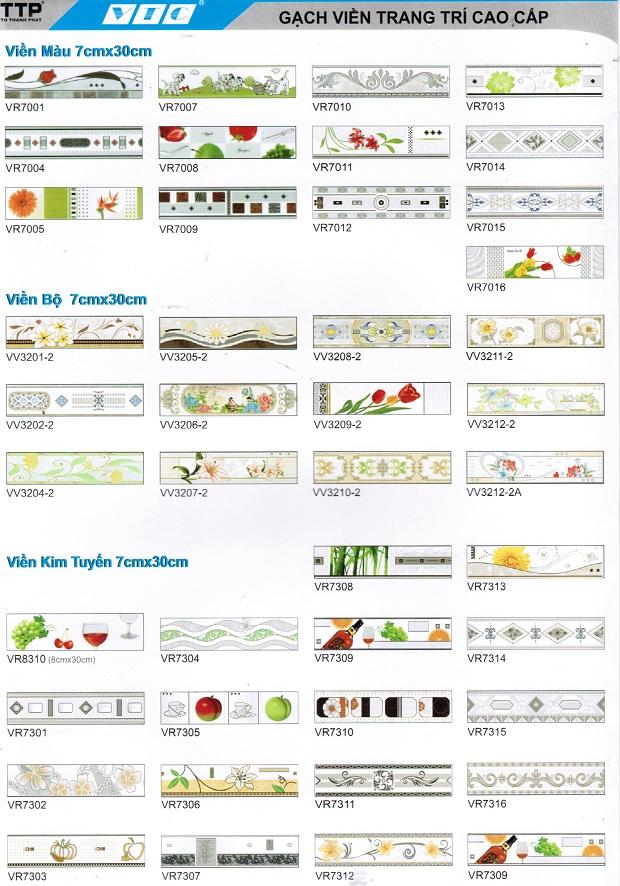 Tổng hợp mẫu gạch viền 7x30 Chất lượng hàng đầu
