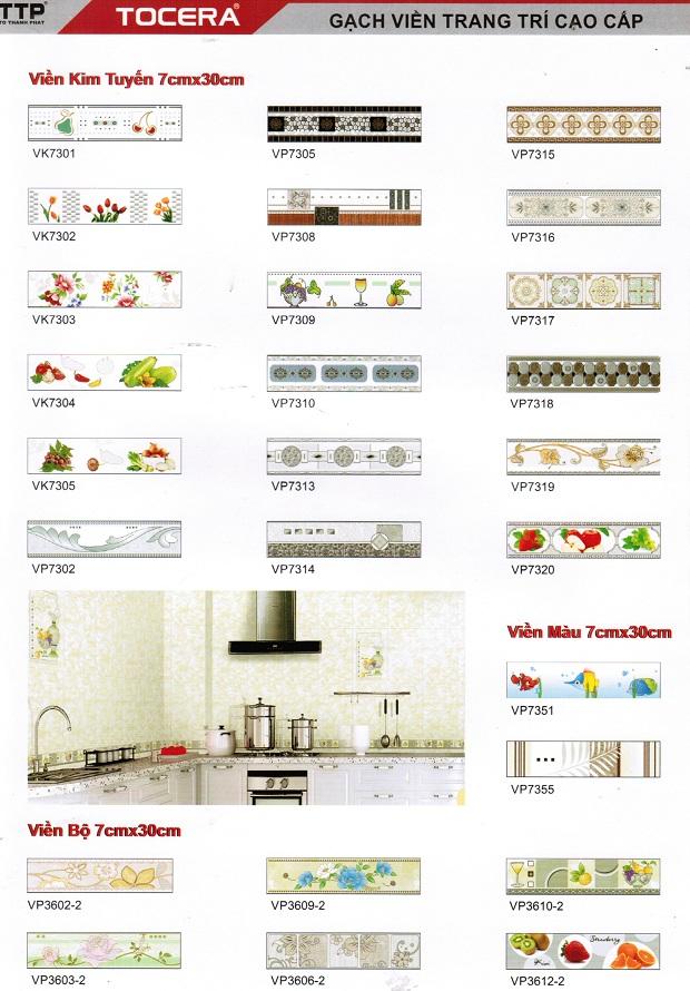 Các mẫu gạch viền 7x30 giúp tạo điểm nhấn đặc biệt cho phòng khách