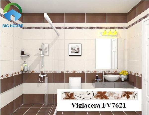 Ấn tượng mẫu gạch viền Viglacera F7621 họa tiết hoa leo nâu chân thực, tinh tế mang đến vẻ đẹp sống động, cuốn hút