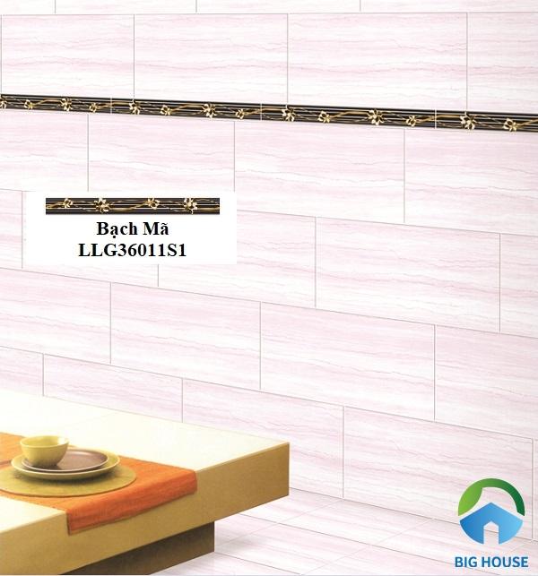 Mẫu gạch điểm Bạch Mã LLG36011S1 tạo dấu ấn đặc biệt cho bức tường phòng ăn