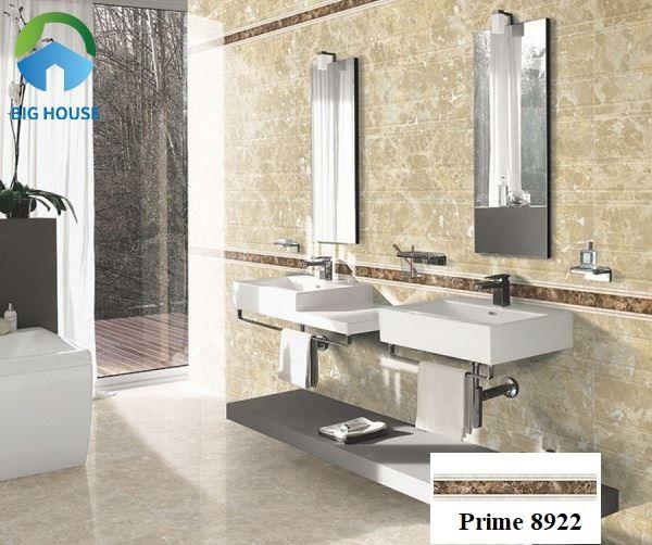 Phòng tắm sẽ thật phá cách nếu bạn biết cách thiết kế và trang trí với gạch viền
