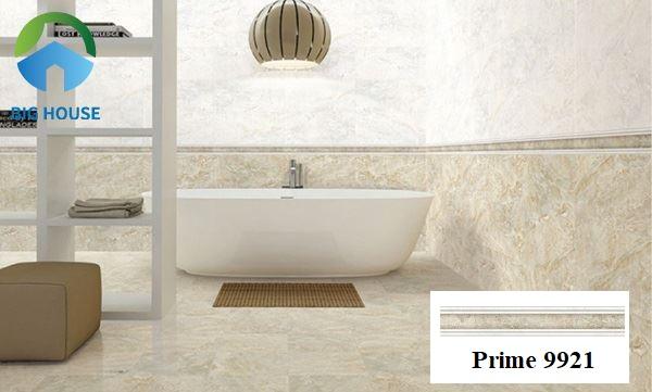 Gạch Prime 9921 kích thước 9x60 có bề mặt nhẵn phù hợp ốp tường nhà tắm