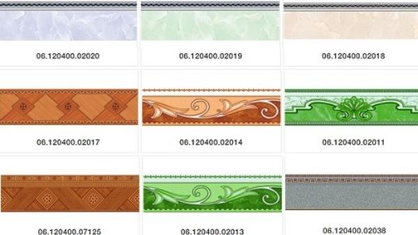 Cập nhật bảng giá gạch viền ốp tường kèm TOP mẫu Đẹp 2021