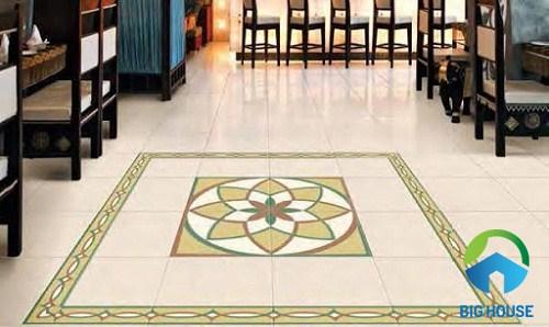 gạch viền lát nền trang trí tạo thảm đẹp mắt
