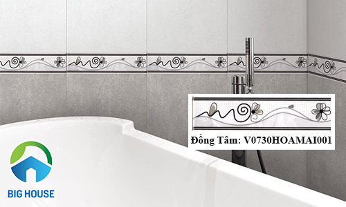 Mẫu gạch viền trang trí nhà tắm ấn tượng