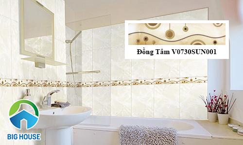 Mẫu gạch viền trang trí nhà tắm đẹp mắt
