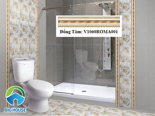 Gạch viền ốp tường nhà tắm đẹp mắt