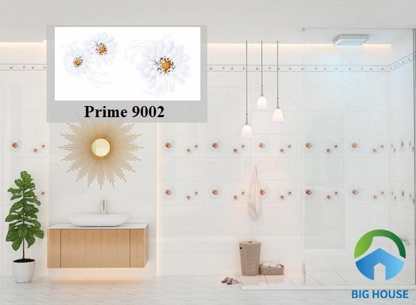 Mê mẩn với những bông hoa ý như thật trên tường nhà tắm khi sử dụng mẫu gạch ốp Prime 9002