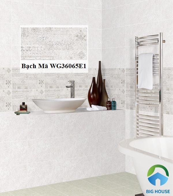 Lựa chọn gạch Bạch Mã WG36065E1 ốp tường trang trí phòng tắm, phòng khách đều thích hợp