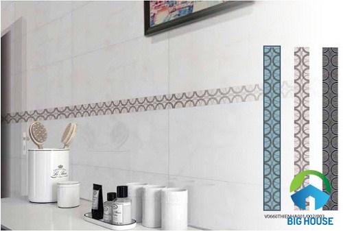 gạch viền trang trí cao cấp tạo điểm nhấn cho nhà vệ sinh