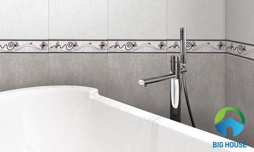 Mẫu gạch viền trang trí cao cấp cho nhà tắm