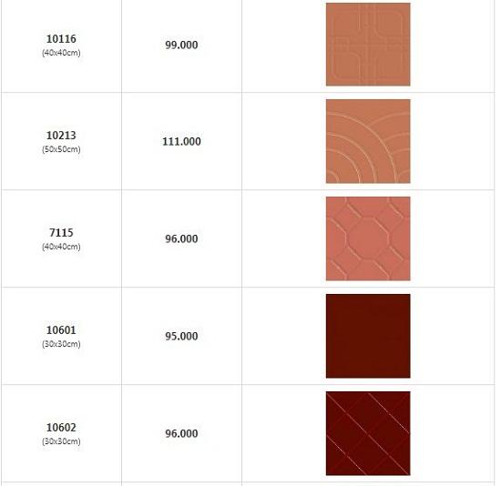 giá gạch đỏ lát sân chống trơn