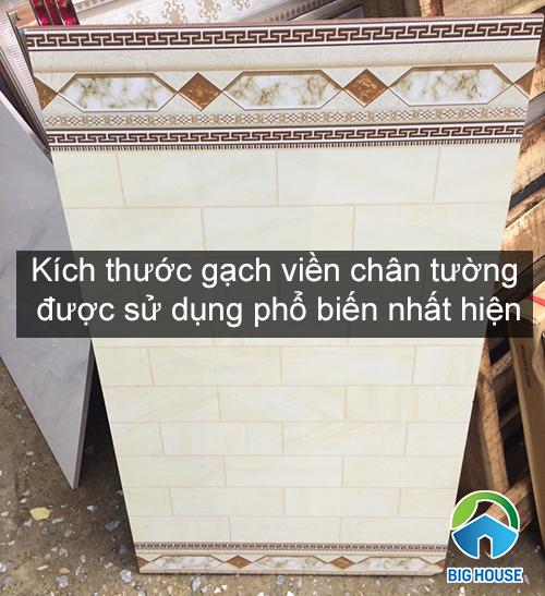 7 kích thước gạch viền chân tường được sử dụng phổ biến nhất