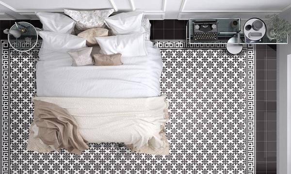 Mẫu gạch bông lát nền phòng ngủ