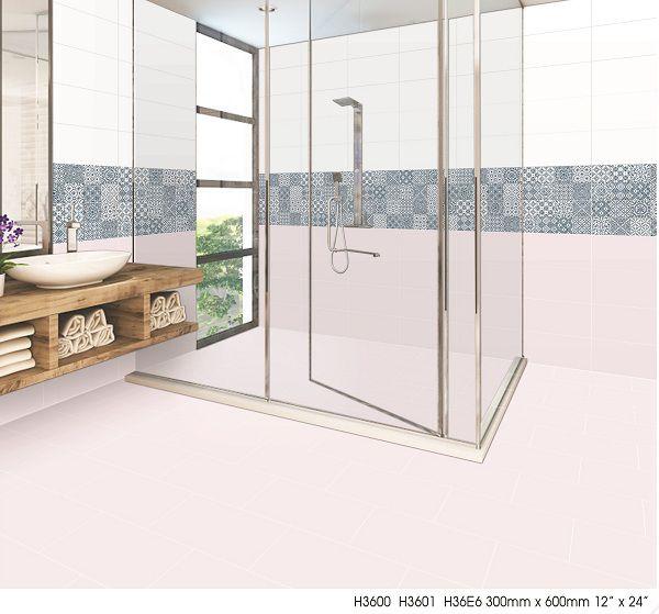 gạch điểm họa tiết độc đáo tạo điểm nhấn cho nhà tắm