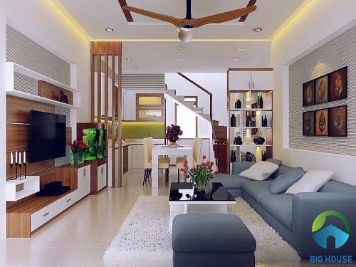 Nguyên tắc phối màu phòng khách nhà ống Hợp tuổi, mệnh Đơn giản