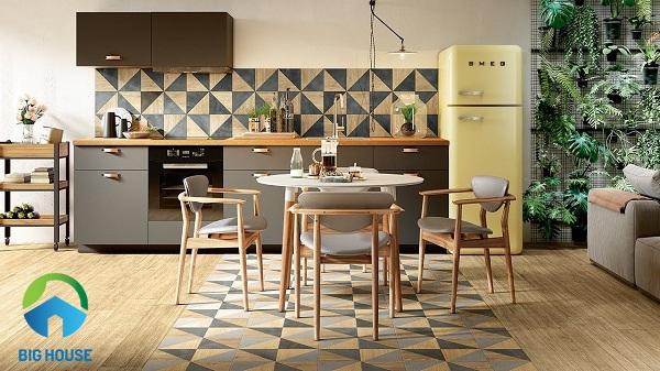 Mẫu gạch phòng bếp họa tiết độc đáo, đẹp mắt
