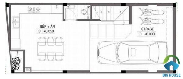 thiết kế nhà lệch tầng 4x10
