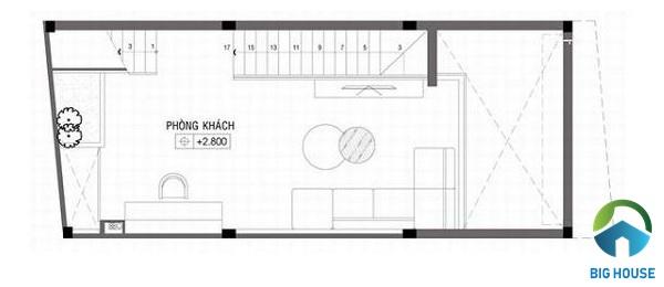 mẫu thiết kế nhà lệch tầng 4x10 đẹp