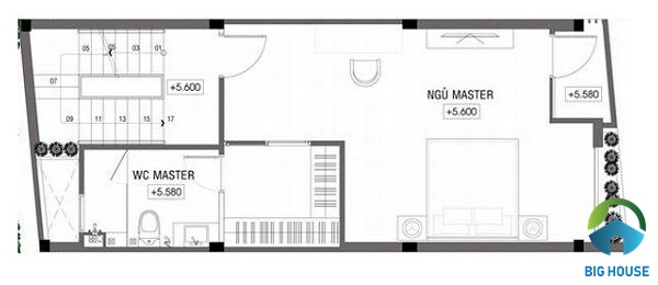 thiết kế nhà lệch tầng 4x10 đơn giản