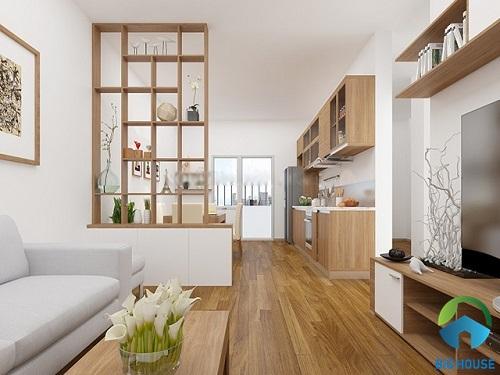30+ thiết kế phòng khách nhà ống liền bếp Đẹp, hợp Phong thủy